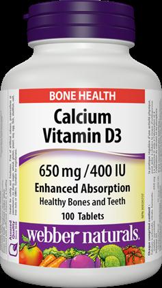 Vápnik (calcium) + Vitamín D3 650 mg /400 IU Forte